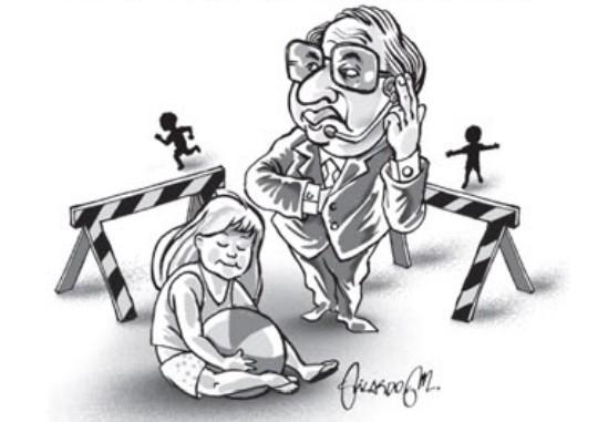 Avô em playground
