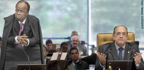 Choque de classes: os ministros Joaquim Barbosa e Gilmar Mendes se enfrentaram em sessão do STF durante debate sobre o foro privilegiado