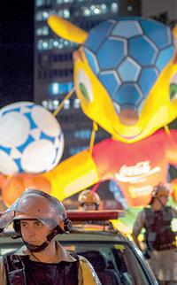 POE protege o Tatu da Copa de 2014 | Foto: Ramiro Furquim/Sul21