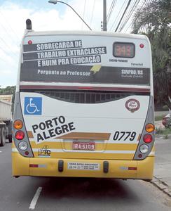 Campanha leva realidade do ensino  privado à opinião pública | Foto: Igor Sperotto