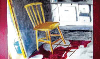 Mostra de Arte Retratos da Violência: trabalho produzido a partir de fotografias da polícia dos locais de crimes, vítimas e objetos apreendidos