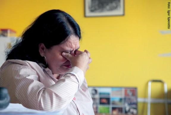 Maria Helena Inácio gostaria de estar aposentada por acidente de trabalho e não por invalidez