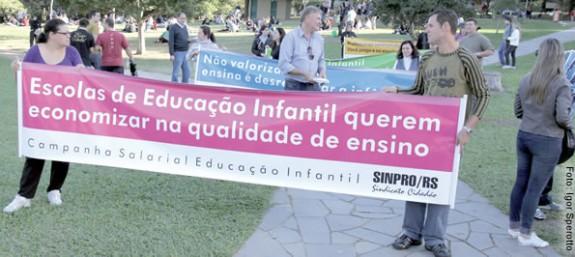 Caminhadas e manifestações junto às escolas e parques e audiência pública na Assembleia Legislativa