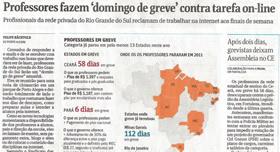 Domingo de Greve teve cobertura da Folha de S. Paulo