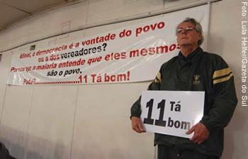 O contador Cláudio Cariboni, idealizador do movimento em Santa Cruz do Sul