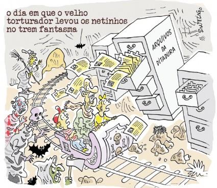 Charge | Ilustração:  Santiago