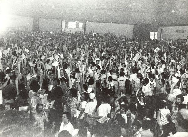 Conclat, em 1983: fundação da Central Unica dos Trabalhadores