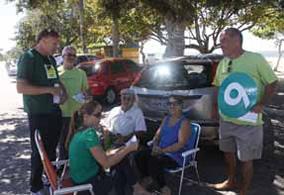 Pelotas – Domingo, 20, distribuição de materiais informativos da campanha na praia do Laranjal