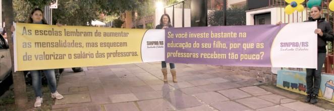 Campanha chama a atenção de pais para a diferença entre o reajuste das mensalidades escolares e o reajuste dos salários