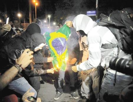 Protestos contra a Copa 2014 realizados do Rio de Janeiro, em maio passado