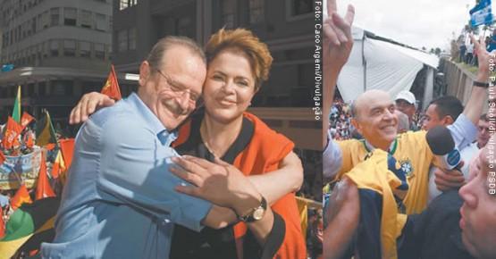 Tarso deixou o cargo de ministro para um profissional de carreira; Dilma passou a Casa Civil para seu braço direito; | Serra foi substituído pelo vice