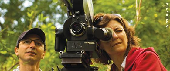 Ana Luiza Azevedo durante as filmagens de Antes que o Mundo Acabe