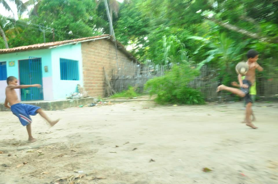 Aldeia Potiguara Tambar, em Baia da Traição, no litoral da Paraíba