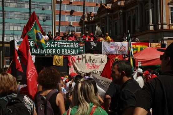 No RS, o movimento se antecipou para integrar 4 mil militantes da Jornada Nacional de Lutas da Via Campesina.