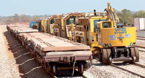 Obras da Ferrovia Norte-Sul, em Tocantins, cujo traçado deverá chegar a Chapecó (SC) e ao Porto de Rio Grande (RS)
