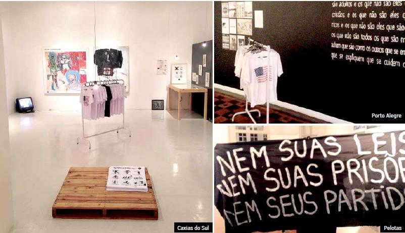 Mostra inaugurada em Porto Alegre se tornou projeto itinerante, possibilitando que obras dissidentes, anárquicas e políticas circulem por outras localidades