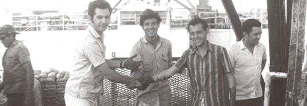 1961 – Equipe pioneira do campo de Guaricema