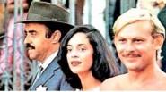 Mauro Mendonça, Sônia Braga e José Wilker em Dona Flor e Seus Dois Maridos, filme de Bruno Barreto, em 1976 | Foto: Divulgação