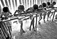 Chico Mendes foi o principal incentivador na implantação de escolas como estratégia de mobilização na floresta