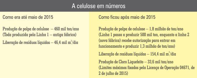 A celulose em números