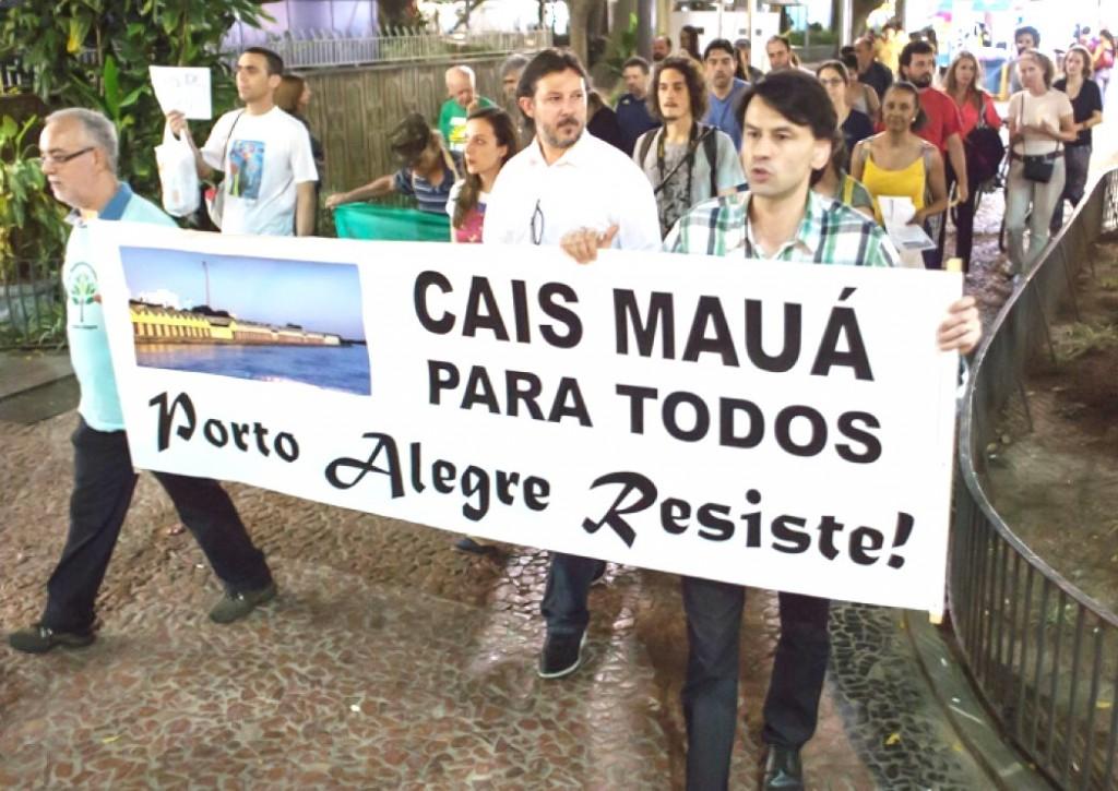 Movimento promoveu audiências e ato para denunciar irregularidades no contrato do Cais Mauá