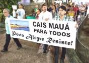 Movimento promoveu audiências e ato para denunciar irregularidades no contrato do Cais Mauá | Foto: Sabrina Ortácio/ Divulgação