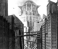 Cenário do filme Metrópolis de Fritz Lang, 1926