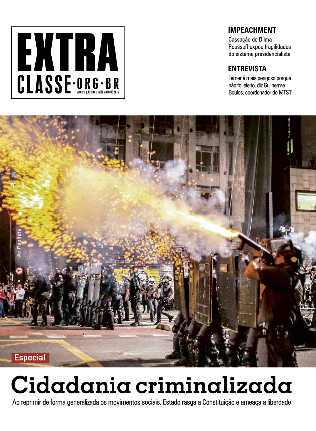 Jornal Extra Classe Nº 207 | Ano 21 | SET 2016