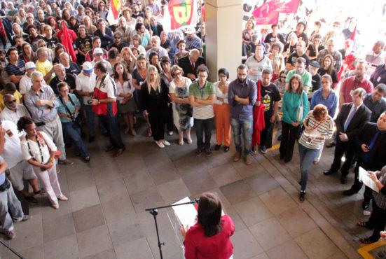 Servidores do Judiciário Trabalhista aderiram ao Dia Nacional de Lutas com ato do TRT4