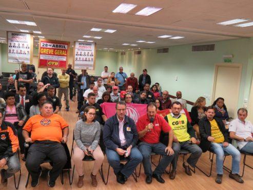 Representantes de centrais sindicais fizeram balanço das adesões a dois dias da greve