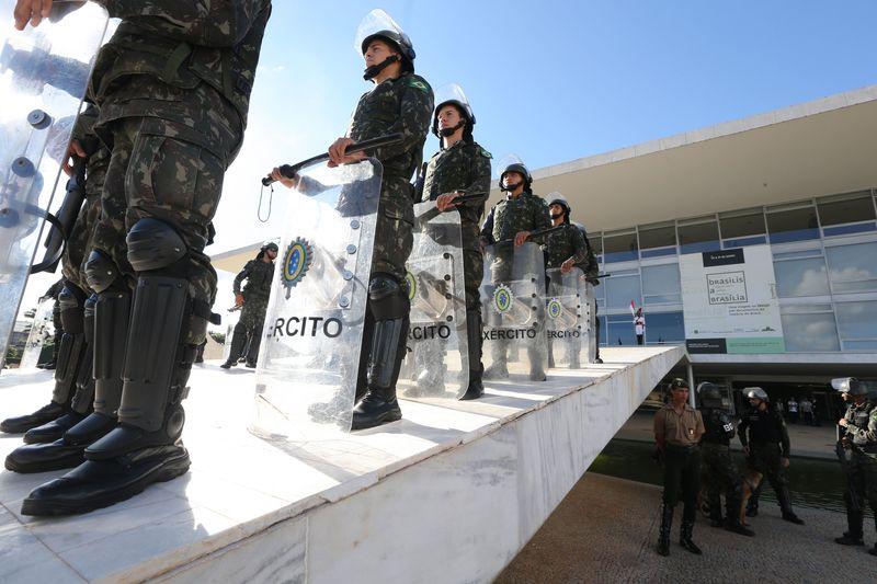 Brasília - Segurança é reforçada no Palácio do Planalto