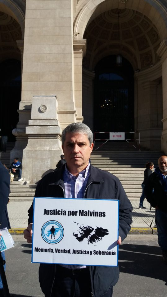 Ernesto Alonso, do Centro de Ex-Combatentes das Ilhas Malvinas (Cecim) La Plata