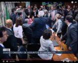 Reforma Trabalhista: reunião da CAE é suspensa depois de tumulto | Reprodução: TV Senado