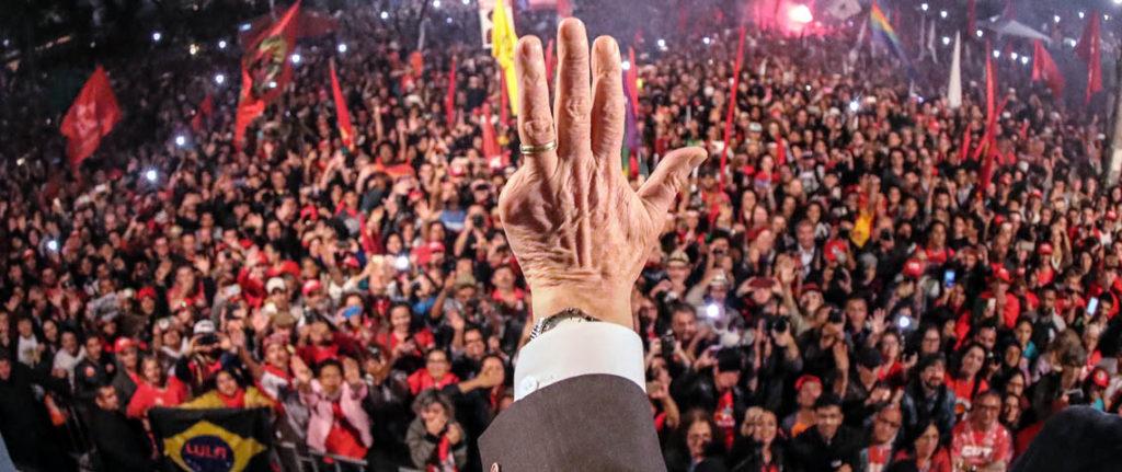 Curitiba PR Brasil o ex presidente Luiz Inacio Lula da Silva durante Ato jornada pela democracia em Curitiba