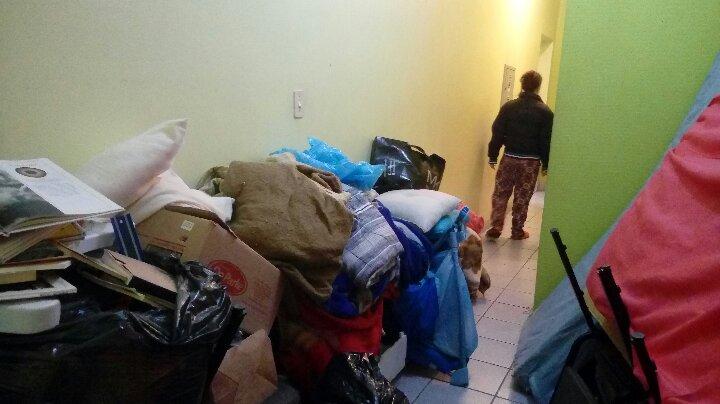 Parte das famílias expulsas pela BM foram acolhidas na Ocupação Mirabal, que atende mulheres vítimas de violência