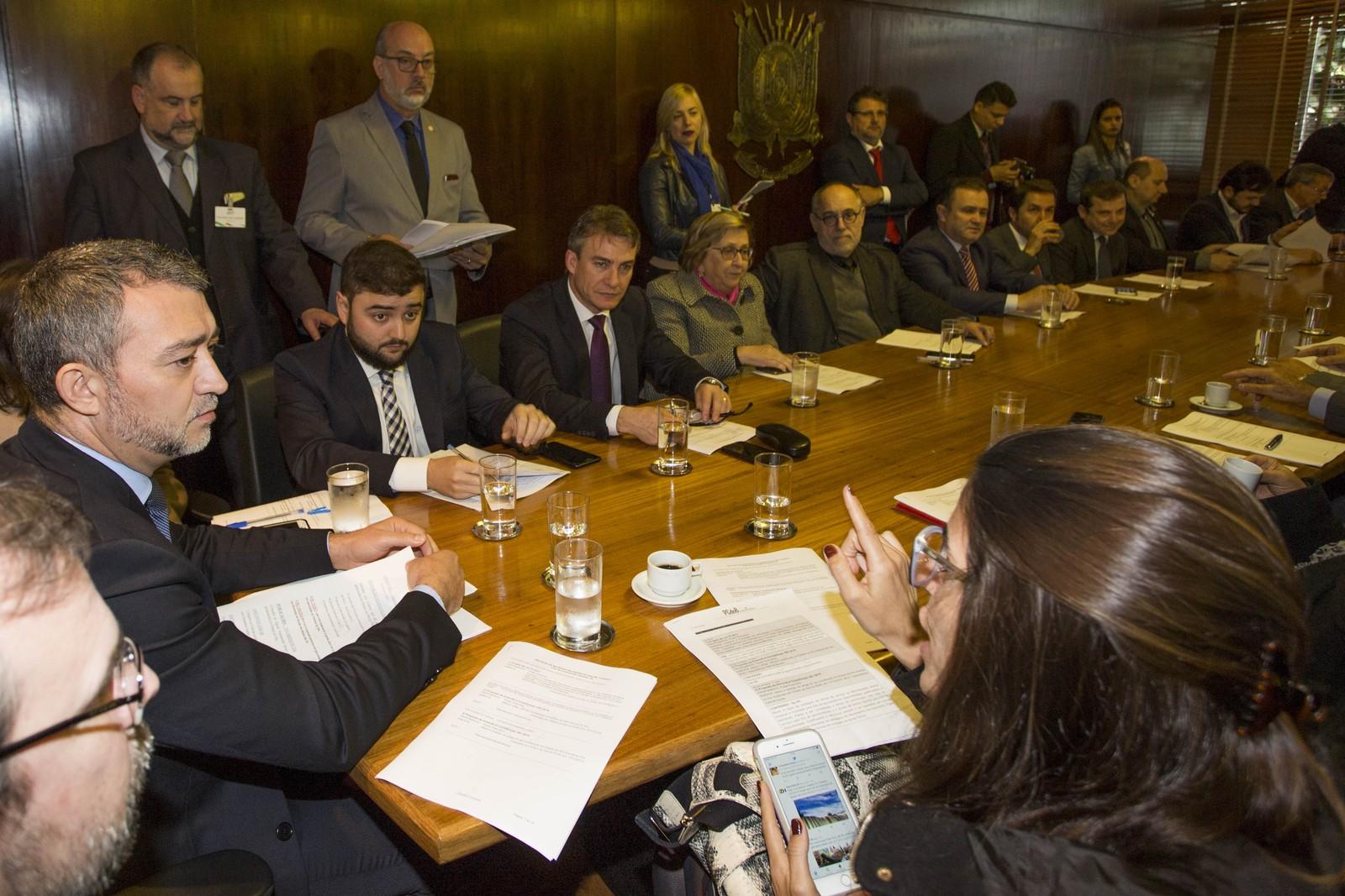 Projeto do governador José Sartori (PMDB) nem chegou a entrar na pauta da reunião de líderes na Assembleia
