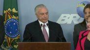 Temer: primeiro presidente a ser acusado de corrupção na história   Foto: reprodução de TV/NBR