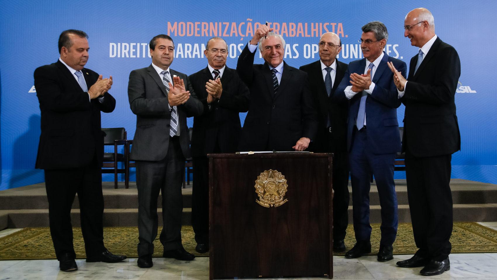 Cerimônia de Sanção da Lei de Modernização Trabalhista