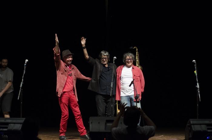 Los 3 Plantados: Jimi Joe, King Jim e Bebeto Alves, transplantados em 2013, comemoraram com um espetáculo musical na Ecarta