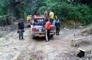 Flagrante de trabalho escravo na zona rural de Rurópolis, no Pará: onze adultos e uma criança de 3 anos eram mantidas como trabalhadores em serviço análogo à escravidão | Foto: Polícia Civil/ Divulgação
