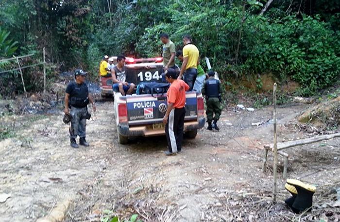 Flagrante de trabalho escravo na zona rural de Rurópolis, no Pará: onze adultos e uma criança de 3 anos eram mantidas como trabalhadores em serviço análogo à escravidão