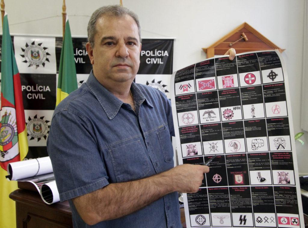 Paulo Cesar Jardim, titular da 1ª Delegacia de Polícia de Porto Alegre, responsável pelo Grupo de Combate ao Neonazismo no Rio Grande do Sul