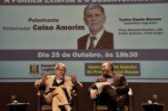 Celso Amorim, com Edegar Pretto, presidente da Assembleia Legislativa: