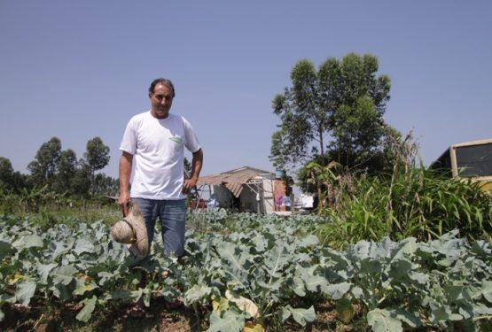 O agricultor Joice dos Santos, histórico do MST, viu os recursos do Programa de Aquisição de Alimentos (PAA), que repassa alimentos da lavoura para famílias pobres, despencar de R$ 16 milhões para R$ 1 milhão em 2017 | Foto: Igor Sperotto