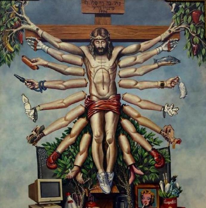 Cristoshiva, do acervo da exposição Queermuseu censurada por pressão de grupos conservadores e do MBL em Porto Alegre