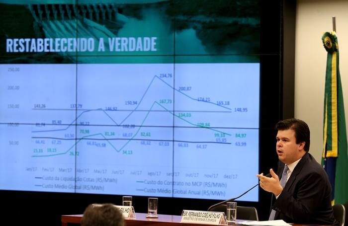 O ministro Fernando Coelho Filho na Comissão de Minas e Energia: vendendo ilusões na defesa da privatização