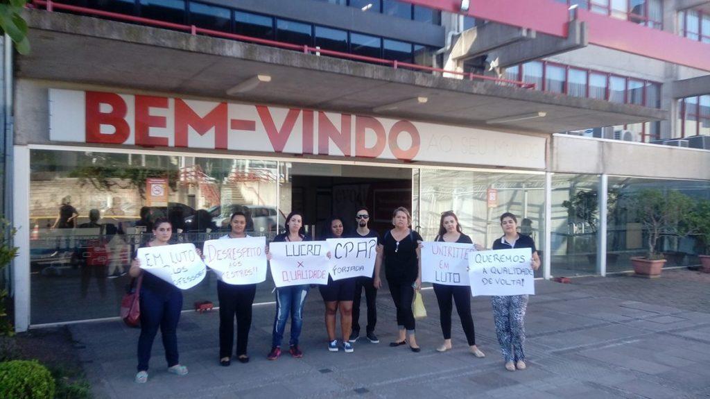 Estudantes em protesto no Campus Zona Sul no dia 15