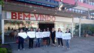 Estudantes em protesto no Campus Zona Sul no dia 15 | Foto: Igor Sperotto