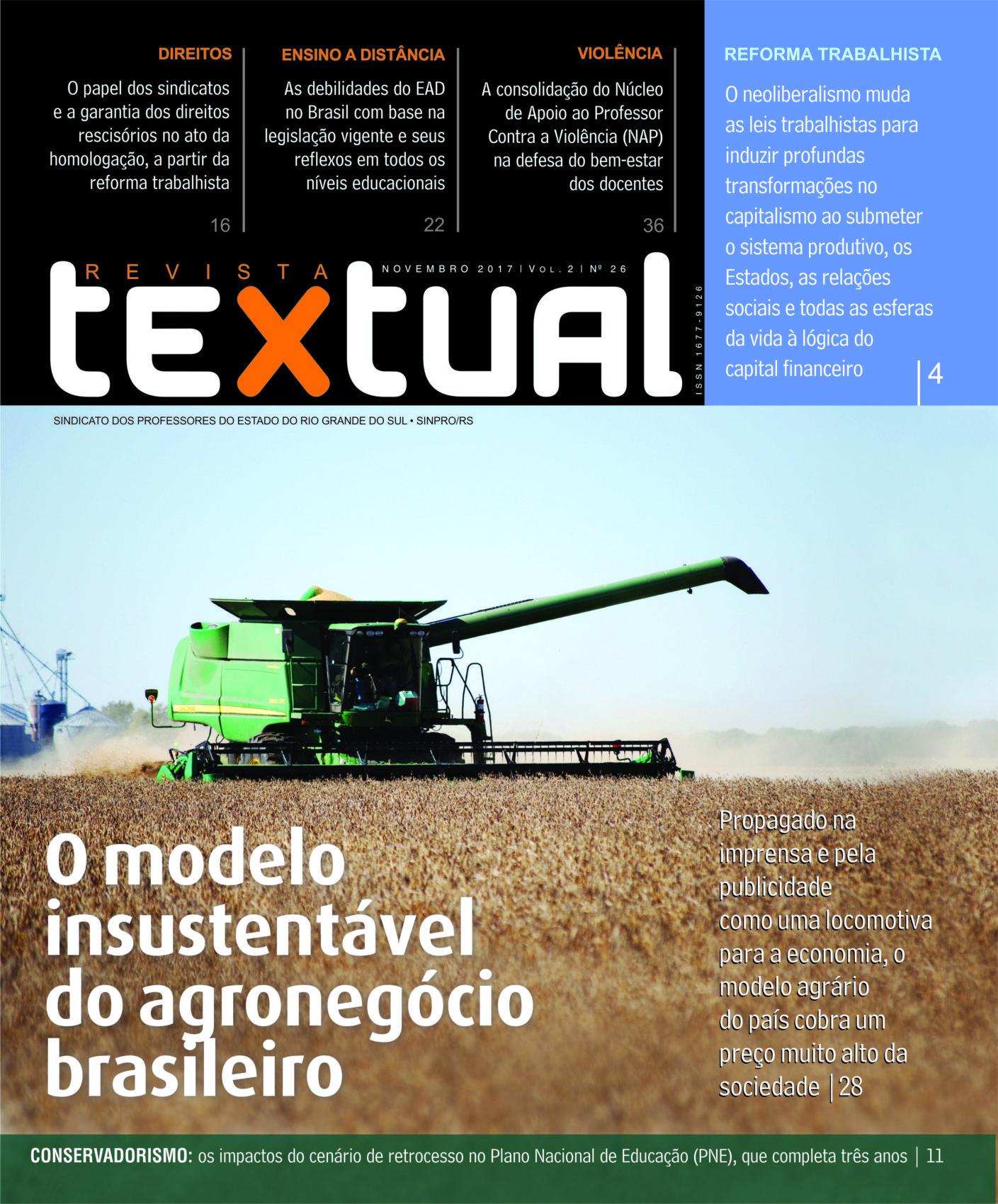 Propaganda enganosa do agronegócio é capa da Textual