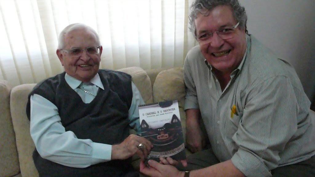 Arns com o jornalista Ricardo Carvalho, autor do documentário sobre a trajetória do líder religioso falecido no ano passado: correspondência com Fidel Castro, visitas aos porões da ditadura, resgate de presos e busca de desaparecidos